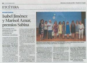 Heraldo de Aragón, 6 de julio de 2016