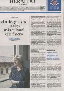 Gloria Labarta en El Heraldo de Aragón