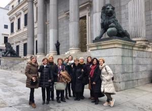 Visita de La Sabina al Congreso y al Senado